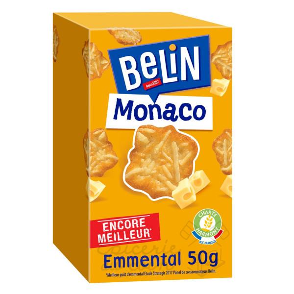 Belin Crackers Monaco apéritif emmental 50g
