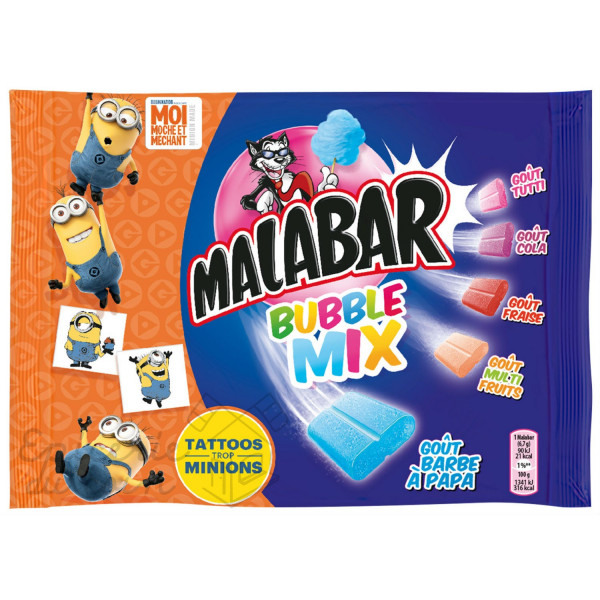 Malabar Bubble Mix Chewing-gum 214g
